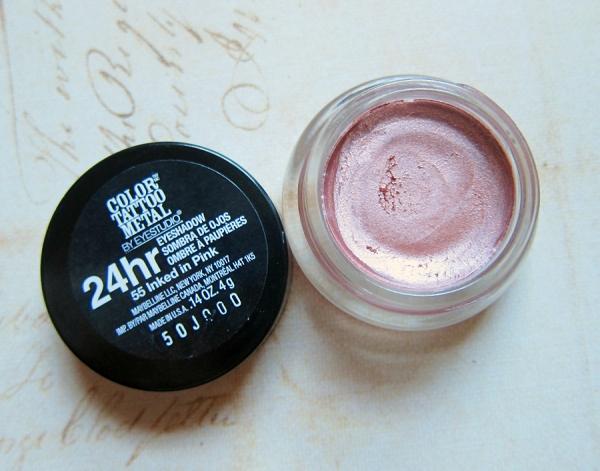 Maybelline Color Tattoo 24 Hour Metal Cream Eyeshadow - Inked in Pink