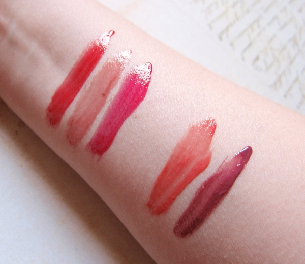 Loreal: Endless Red, Lilac On and On, Infinite Fuchsia. YSL #29 Rose Forreau, #4 Mauve Fusain