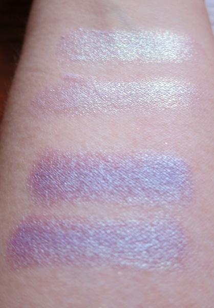 Bottom: Fyrinnae-  Herbivore (Original, Pressed). Top: Darling Girl Cosmetics - Hope (Original, Pressed)