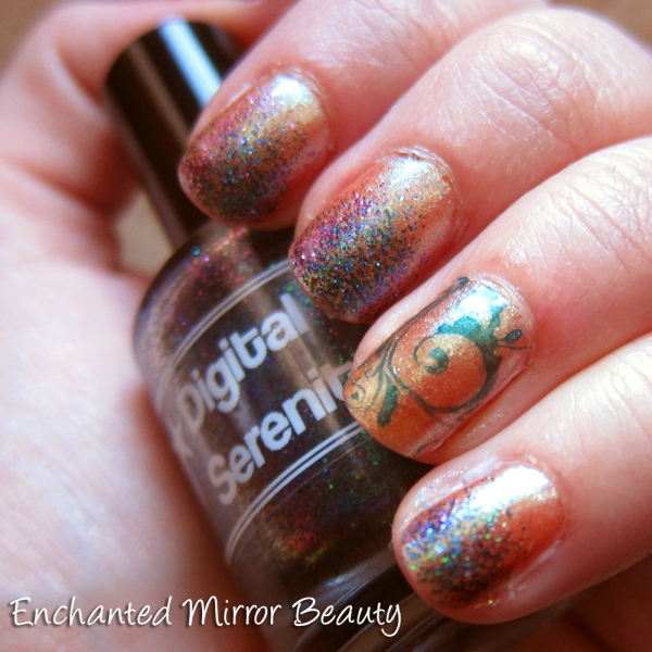Stamping + Glitter Ombre Mani: L'Oreal, Digital Nails, AEngland
