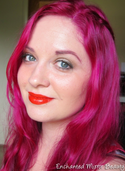 Look using Maybelline Neon Red