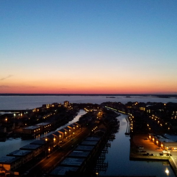 AOTB Post: Sunset over Assawoman Bay