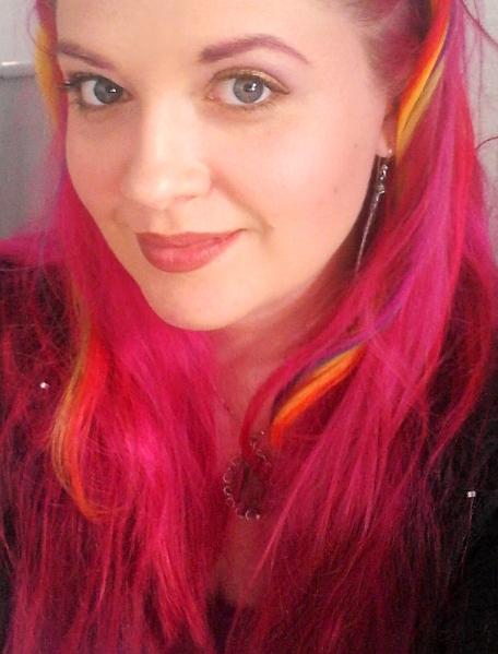 AOTB Post: Rainbow Hair Selfie