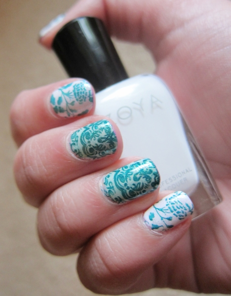 Recent Mani - Zoya Neely & Purity, Stamped with AEngland St George