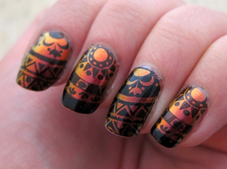 Stamping with Zoya's Kaleidoscope Collection