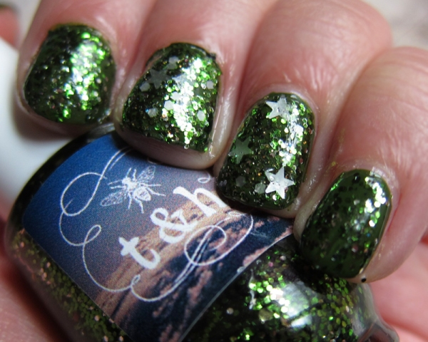 Sphagnum Moss, Prototype Polish (Ring & Middle Fingers)
